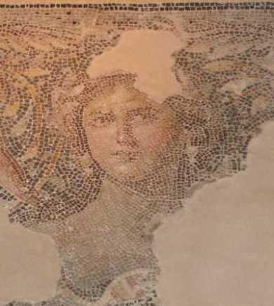 """Mona Lisa"" Mosaik in Zippori"